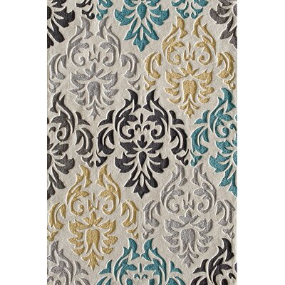 Hartford Hand-Tufted Beige/Grey Area Rug Rug Size: 5 x 7