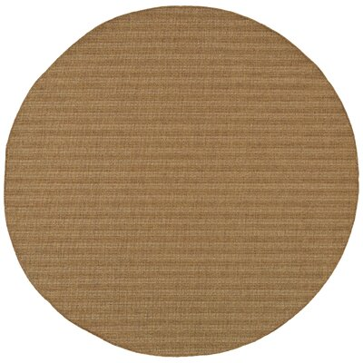 South Hampton Tan Indoor/Outdoor Area Rug Rug Size: Round 7'10