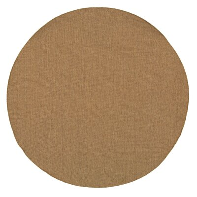 South Hampton Tan Indoor/Outdoor Area Rug Rug Size: Round 710