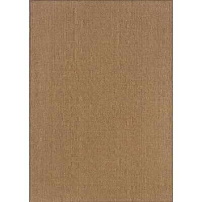 South Hampton Tan Indoor/Outdoor Area Rug Rug Size: 37 x 56