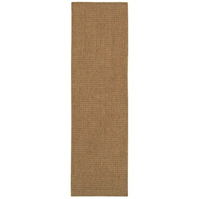 Nathalia Hand-Woven Tan Indoor/Outdoor Area Rug Rug Size: Runner 23 x 76