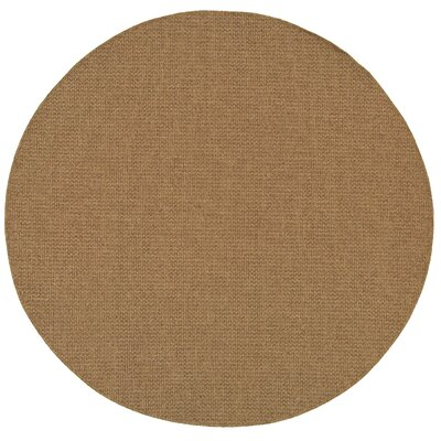 Nathalia Hand-Woven Tan Indoor/Outdoor Area Rug Rug Size: Round 710