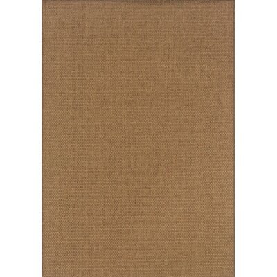 South Hampton Tan Indoor/Outdoor Area Rug Rug Size: 19 x 39