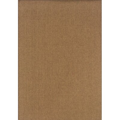 Nathalia Hand-Woven Tan Indoor/Outdoor Area Rug Rug Size: Rectangle 86 x 13