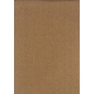 Nathalia Hand-Woven Tan Indoor/Outdoor Area Rug Rug Size: Rectangle 86 x 13
