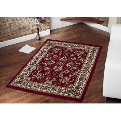 Eldred Dark Red Oriental Area Rug Rug Size: 5 x 7