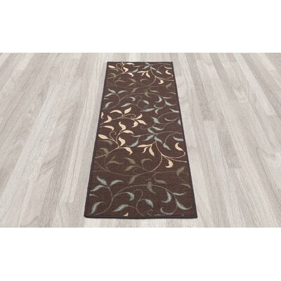 Galesburg Chocolate Indoor/Outdoor Area Rug Rug Size: Runner 110 x 7
