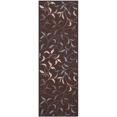 Galesburg Chocolate Indoor/Outdoor Area Rug Rug Size: 18 x 411