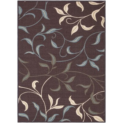 Galesburg Chocolate Indoor/Outdoor Area Rug Rug Size: 82 x 910
