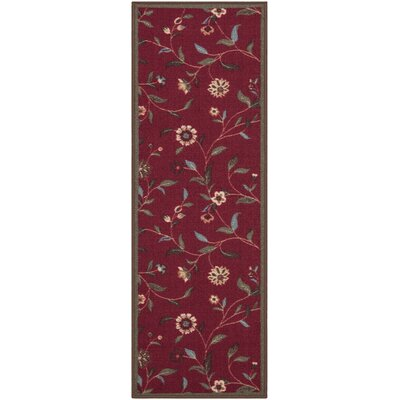 Bunyard Red Indoor/Outdoor Area Rug Rug Size: Runner 110 x 7