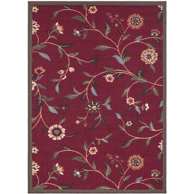 Bunyard Red Indoor/Outdoor Area Rug Rug Size: 5 x 66
