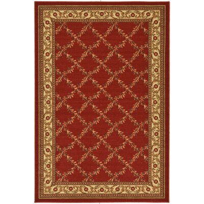 Ryan Dark Red Indoor/Outdoor Area Rug Rug Size: 18 x 411