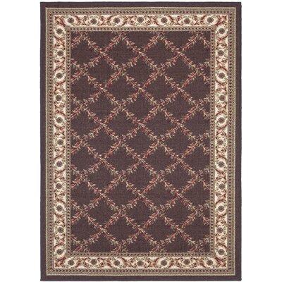 Ryan Chocolate Indoor/Outdoor Area Rug Rug Size: 33 x 5