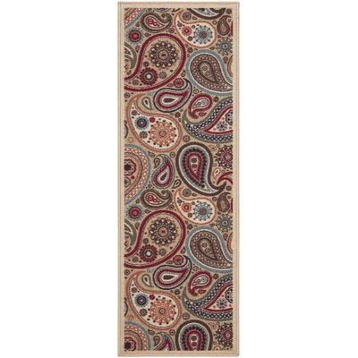 Galesburg Beige Indoor/Outdoor Area Rug Rug Size: Runner 110 x 69
