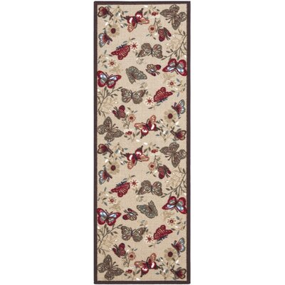 Galesburg Brown Indoor/Outdoor Area Rug Rug Size: 18 x 411