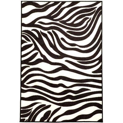 Martina White/Black Area Rug Rug Size: 33 x 5
