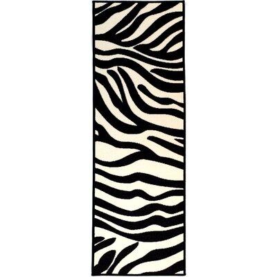 Martina White/Black Area Rug Rug Size: 18 x 411