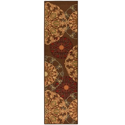 Galesburg Chocolate Area Rug Rug Size: Runner 2 x 7