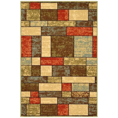 Galesburg Brown/Red Area Rug Rug Size: 3 x 5