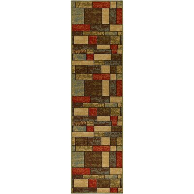 Galesburg Brown/Red Area Rug Rug Size: Runner 2 x 7