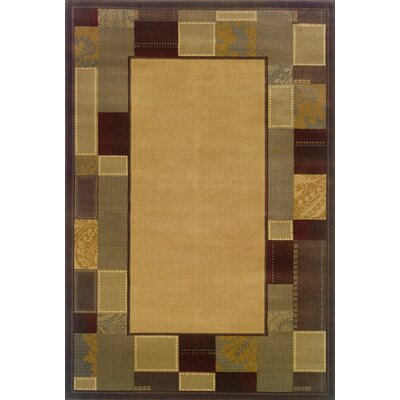 Garmon Beige/Brown Area Rug Rug Size: Rectangle 26 x 45