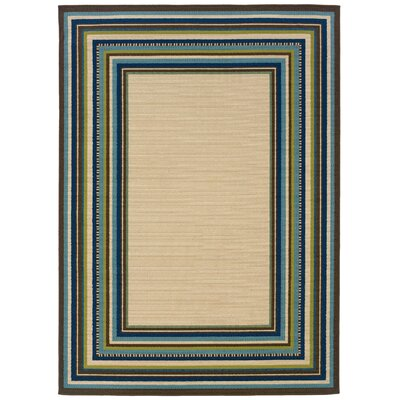 Newfield Ivory/Blue Indoor/Outdoor Area Rug Rug Size: 710 x 1010