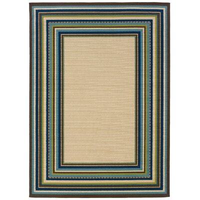 Newfield Brown Indoor/Outdoor Area Rug Rug Size: 53 x 76