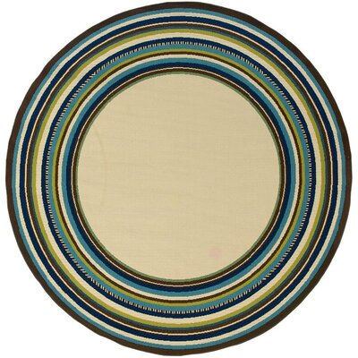 Brendel Hand Woven Brown Indoor/Outdoor Area Rug Rug Size: Round 710
