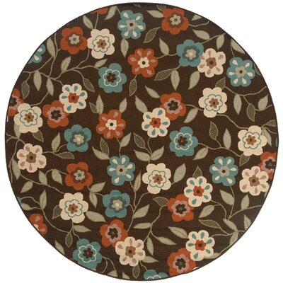 Newfield Brown/Ivory Indoor/Outdoor Area Rug Rug Size: 710 x 1010