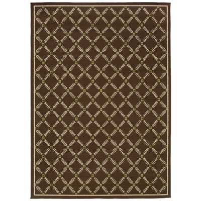 Newfield Brown/Ivory Indoor/Outdoor Area Rug Rug Size: 67 x 96