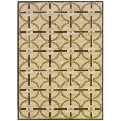 Newfield Ivory/Brown Indoor/Outdoor Area Rug Rug Size: 37 x 56