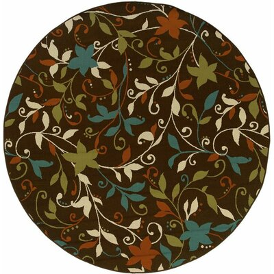 Newfield Brown/Green Indoor/Outdoor Area Rug Rug Size: 67 x 96