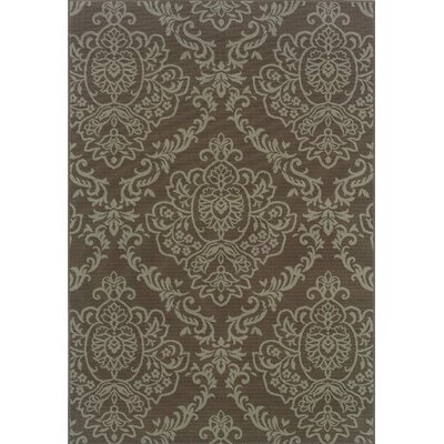 Milltown Grey/Blue Indoor/Outdoor Area Rug Rug Size: 53 x 76