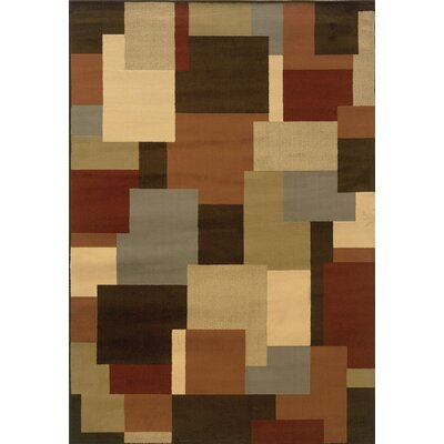 Brentford Geometric Brown/Beige Area Rug Rug Size: Rectangle 53 x 73