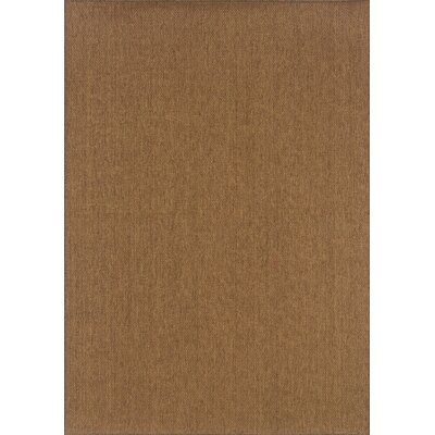Mallory Tan Indoor/Outdoor Area Rug Rug Size: Round 710