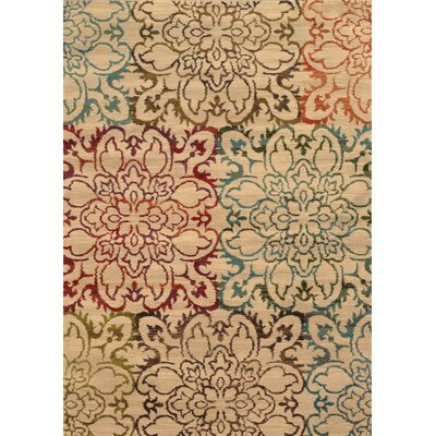 Bienville Floral Ivory Area Rug Rug Size: 67 x 96