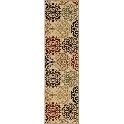 Bradley Bisque Catalina Beige Indoor/Outdoor Area Rug Rug Size: Runner 23 x 8