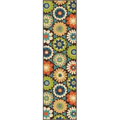 Ginther Green Indoor/Outdoor Area Rug Rug Size: Runner 23 x 8
