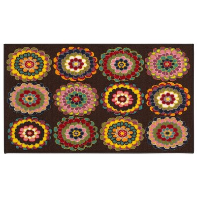 Alexander Brown/Pink Area Rug Rug Size: Rectangle 22 x 39