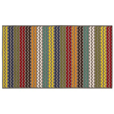 Alexander Chevron Gray Area Rug Rug Size: Rectangle 22 x 39