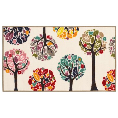 Alexander White Area Rug Rug Size: Rectangle 22 x 39