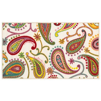 Alexander White Area Rug Rug Size: 22 x 39