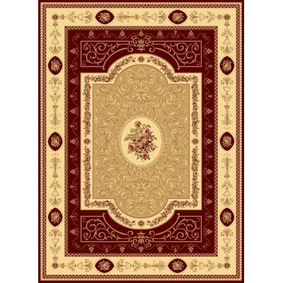 Gloucester Red Area Rug Rug Size: 710 x 1010