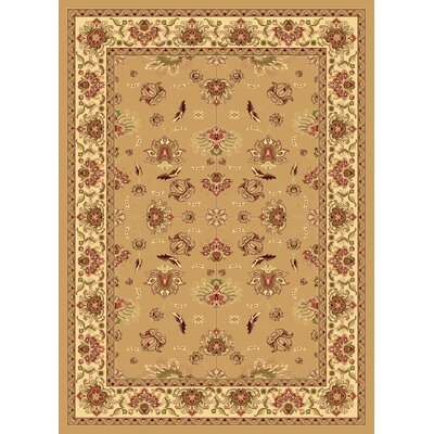 Gloucester Tan Area Rug Rug Size: Round 53