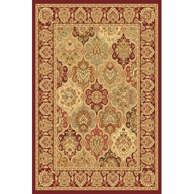 Gloucester Red Area Rug Rug Size: Rectangle 2 x 211