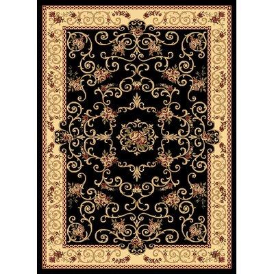 Gloucester Black Area Rug Rug Size: 910 x 132
