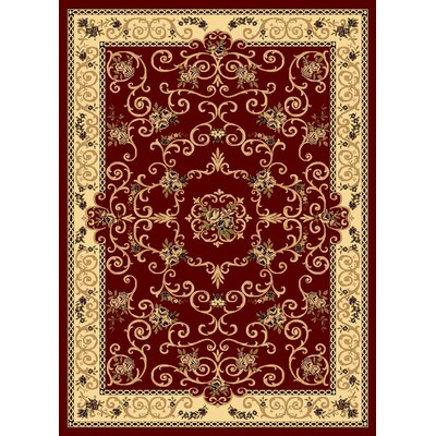 Gloucester Red Area Rug Rug Size: 53 x 710