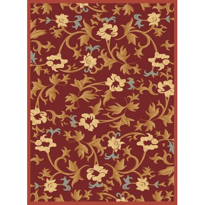 Jordan Red Area Rug Rug Size: 311 x 53