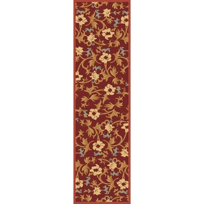 Jordan Red Area Rug Rug Size: Runner 23 x 71