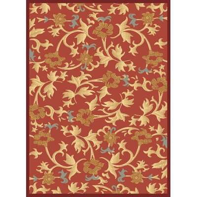 Jordan Red Area Rug Rug Size: 710 x 1010